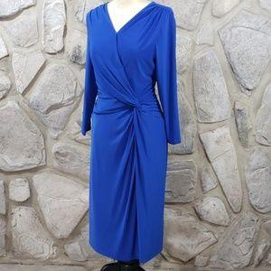 Ralph Lauren Blue Poly Jersey Dress